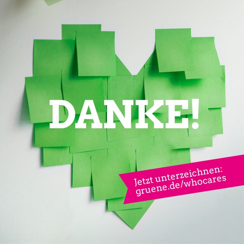 Danke an alle Care-Worker*innen