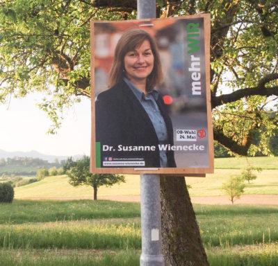 Wahlplakat S. Wienecke