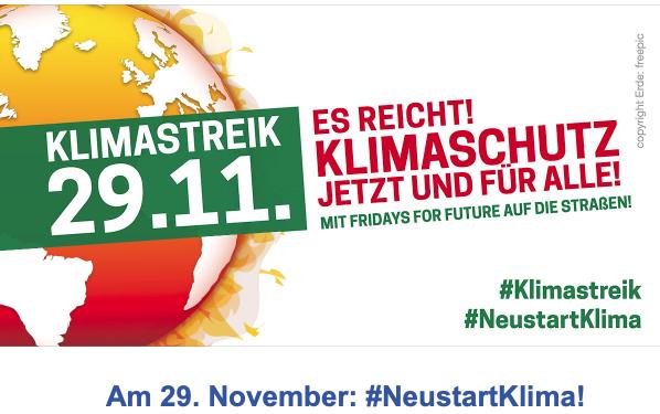 Das war die Klima-Demo am 29.11.2019 in Freiburg
