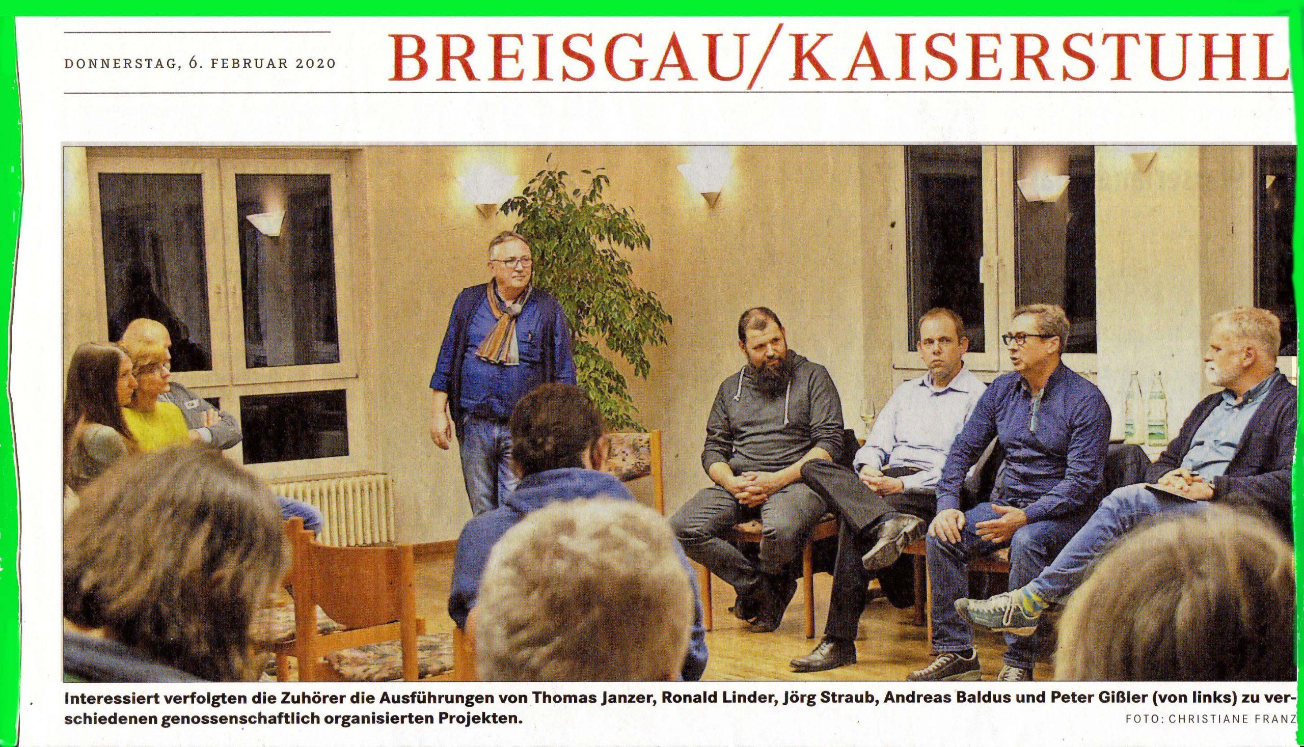 Podiumsdiskussion zur Ortskernsanierung Kiechlinsbergen