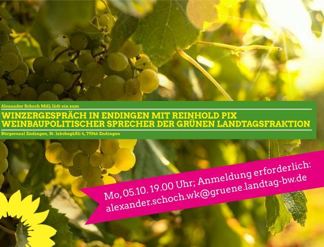 Winzergespräch mit Reinhold Pix am 5.10.20 in Endingen
