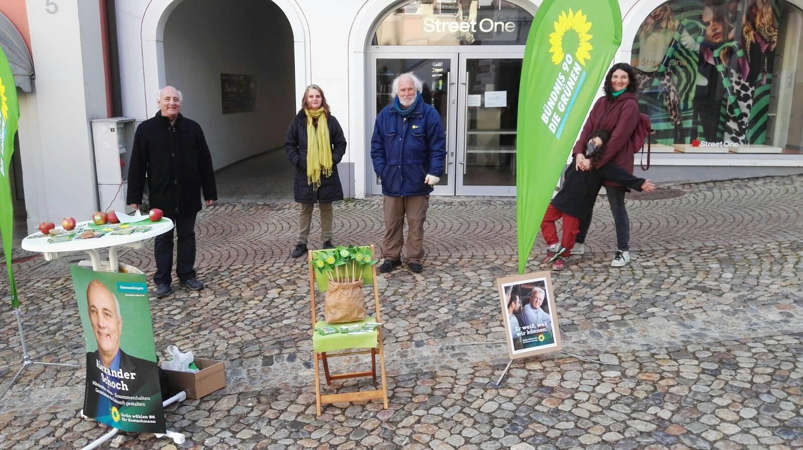Wahlkampf auf dem Marktplatz