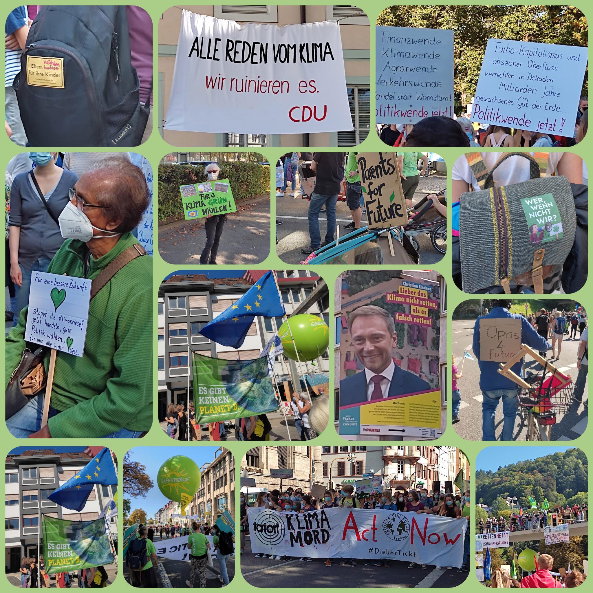 Globaler KLIMASTREIK 24.9.2021 in Freiburg