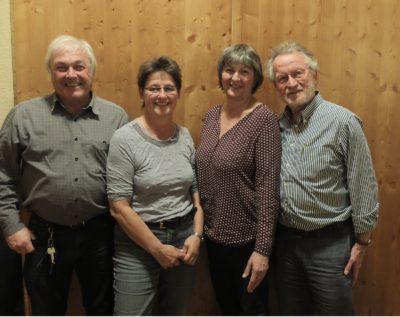 Der neue Kreisvorstand. Von links nach rechts: Horst Kolb, Barbara Schuler, Andrea Bold-Reichenbach, Franz Ruetz