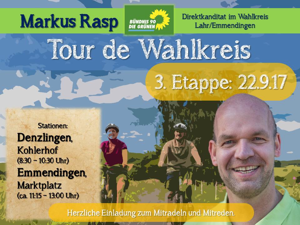 Tour de Wahlkreis  – die letzten beiden Touren – Denzlingen- Emmendingen (22.09.) und Elzach-Waldkirch (23.09.)