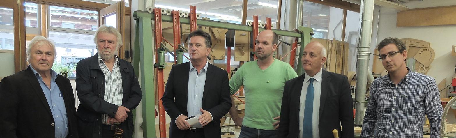 Sozialminister Manne Lucha MdL besucht mit Markus Rasp die Einrichtung Am Bruckwald