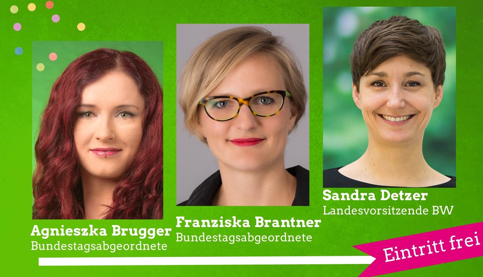 GRÜNER Politischer Aschermittwoch am 14. Februar 2018 mit Agnieszka Brugger, Franziska Brantner und Sandra Detzer