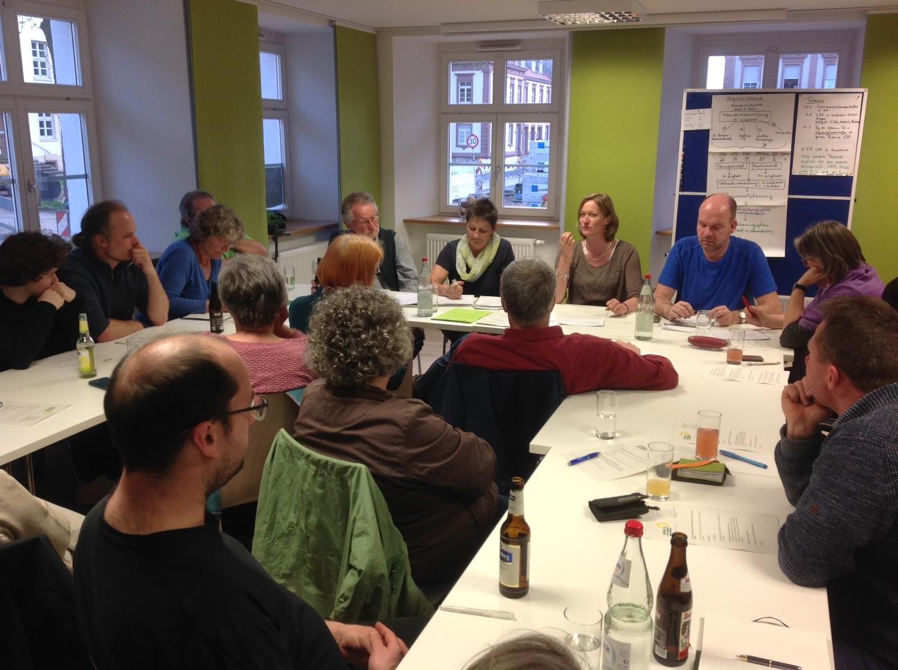 Gute Gespräche bei der Kreismitgliederversammlung mit Kerstin Andreae