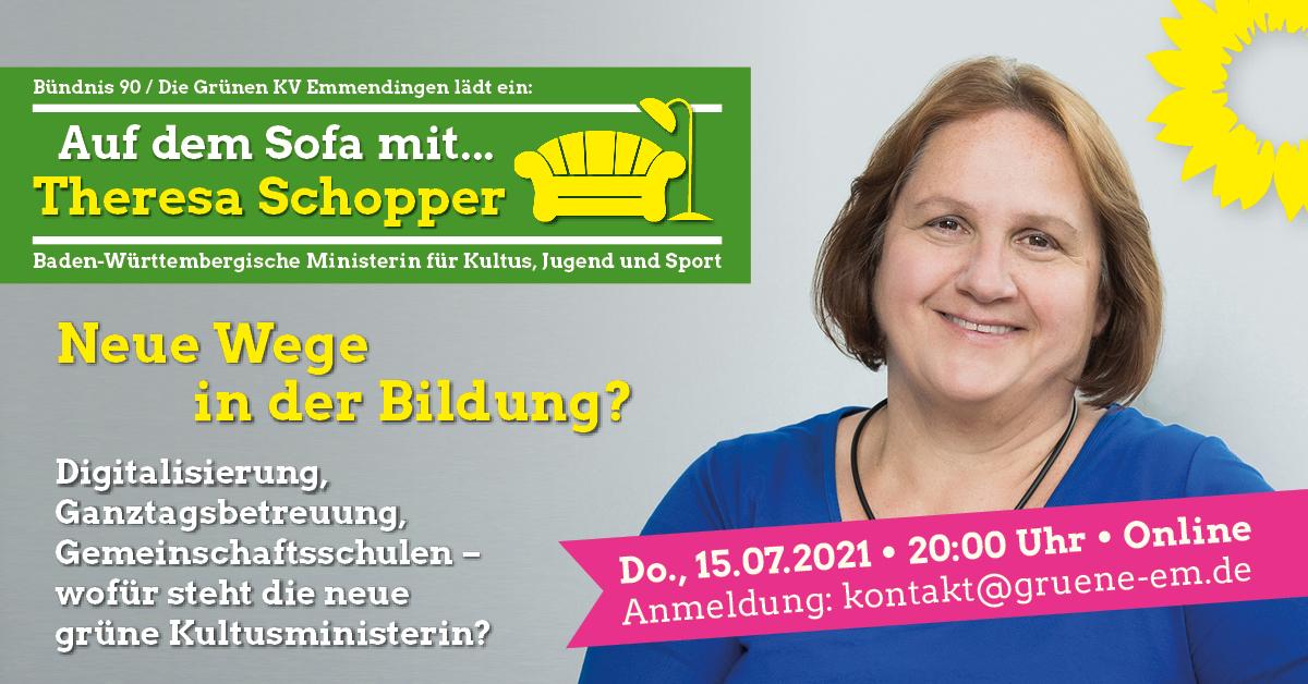 Auf dem Sofa mit…: Theresa Schopper