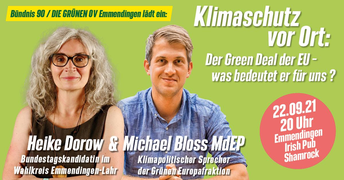 Klimaschutz vor Ort: Michael Bloss MdEP: Der Green Deal der EU – was bedeutet er für uns?