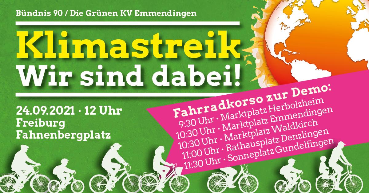Fahrradkorso zur Klimademo